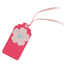 Buy John Lewis Flower Button Tags, Pack of 5 Online at johnlewis.com