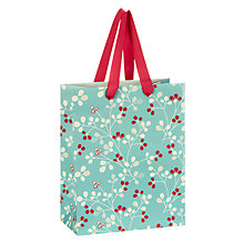 Buy John Lewis Berry Print Gift Bag, Aqua Online at johnlewis.com