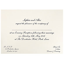 Buy The Letter Press Shelley Evening Invitations, Pack of 60 Online at johnlewis.com