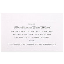 Buy The Letter Press New York RSVP Reply Cards, Pack of 60 Online at johnlewis.com
