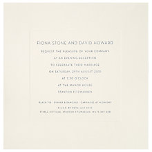 Buy The Letter Press New Bond St Evening Invitations, Pack of 60 Online at johnlewis.com