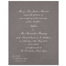 Buy The Letter Press Pimlico Invitations, Pack of 60 Online at johnlewis.com