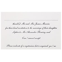 Buy The Letter Press Pimlico RSVP Reply Cards, Pack of 60 Online at johnlewis.com
