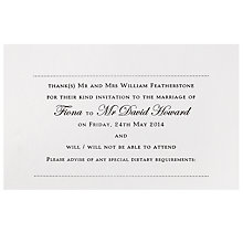 Buy The Letter Press Regency RSVP Reply Cards, Pack of 60 Online at johnlewis.com