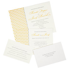 Buy The Letter Press Drayton Wedding Invitation Collection Online at johnlewis.com