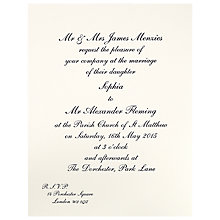 Buy The Letter Press Shelley Invitations, Pack of 60 Online at johnlewis.com