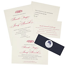 Buy The Letter Press Electra Wedding Invitation Collection Online at johnlewis.com