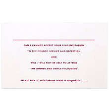 Buy The Letter Press Old Bond St RSVP Reply Cards, Pack of 60 Online at johnlewis.com