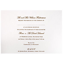 Buy The Letter Press Regency Evening Invitations, Pack of 60 Online at johnlewis.com