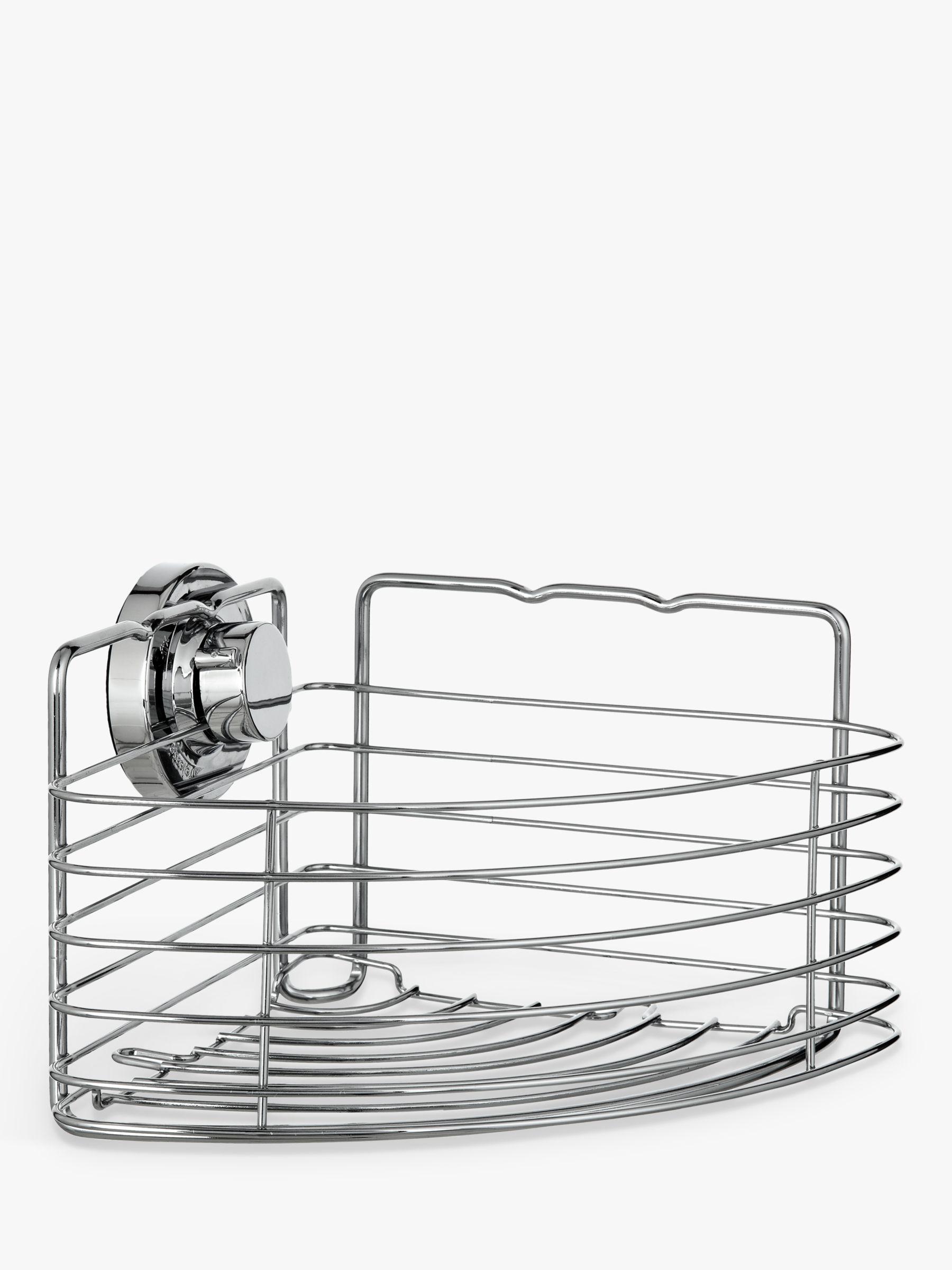 Bliss Bliss Lock N Roll Corner Suction Shower Basket