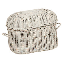 Buy John Lewis Maison Woven Rattan Storage Basket, Grey Online at johnlewis.com