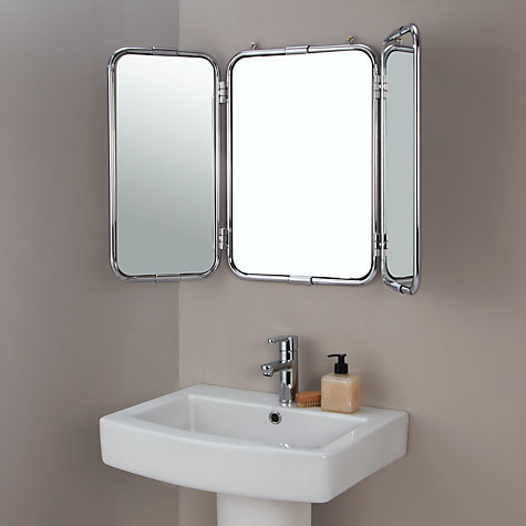 Buy john lewis restoration triple bathroom wall mirror john lewis John lewis bathroom design and fitting