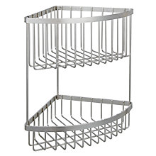 Buy John Lewis Stainless Steel 2 Tier Shower Corner Basket Online at johnlewis.com