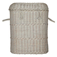 Buy John Lewis Maison Rattan Laundry Basket, Grey Online at johnlewis.com