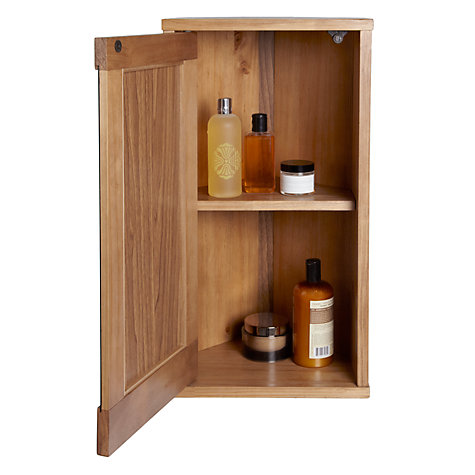Buy john lewis cayman corner bathroom wall cabinet john for Bathroom cabinets john lewis uk