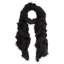Buy Mint Velvet Bobble Scarf, Black Online at johnlewis.com