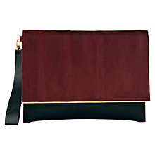 Buy Coast Bye Envelope Clutch Handbag, Blue Online at johnlewis.com