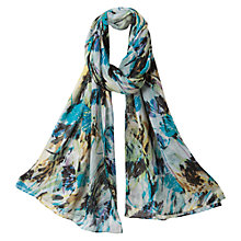 Buy East Brady Print Scarf, Leaf Green Online at johnlewis.com