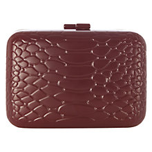 Buy Coast Silvia Clutch Handbag, Plum Online at johnlewis.com