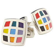 Buy Duchamp Harlequin Cufflinks, Multi Online at johnlewis.com