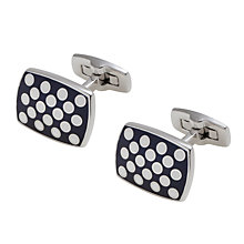 Buy Duchamp Polka Spot Cufflinks, Black Online at johnlewis.com
