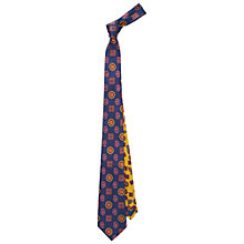 Buy Duchamp Illustrious Foulard Tie, Navy Online at johnlewis.com