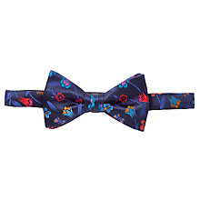 Buy Duchamp Butterfly Garden Floral Bow Tie, Navy Online at johnlewis.com