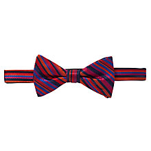 Buy Duchamp Assic Stripe Self-Tie Bow Tie, Red/Blue Online at johnlewis.com