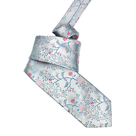 Buy Duchamp Ornate Orchard Tie, Grey Online at johnlewis.com