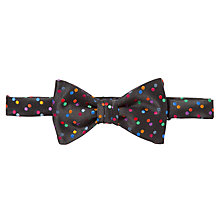 Buy Duchamp Infinity Spot Self-Tie Bow Tie, Black Online at johnlewis.com