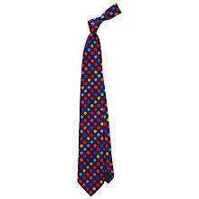 Buy Duchamp Regular Dots Tie, Navy Online at johnlewis.com
