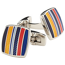 Buy Duchamp Highway Stripe Cufflinks, Multi Online at johnlewis.com