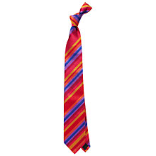 Buy Duchamp Technic Stripe Tie, Red/Blue Online at johnlewis.com