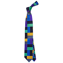 Buy Duchamp Heber Boxes Tie, Blue/Black Online at johnlewis.com