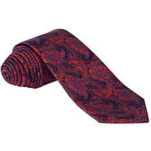 Buy Duchamp Traditional Paisley Silk Tie, Red/Navy Online at johnlewis.com