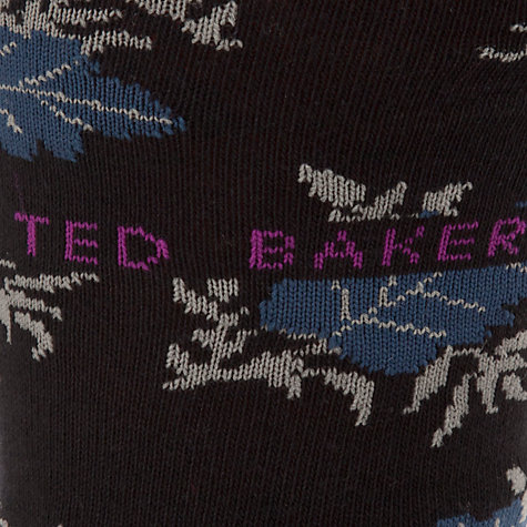 Buy Ted Baker Leafpack Socks, Pack of 2, One Size, Navy Online at johnlewis.com