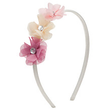 Buy John Lewis Girl Triple Corsage Alice Band, Pink Online at johnlewis.com