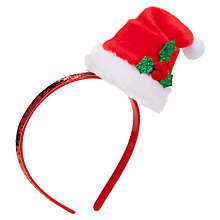 Buy John Lewis Girl Santa Claus Alice Band, Red Online at johnlewis.com