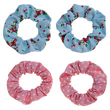 Buy John Lewis Girl Print Scrunchies, Pack of 4, Multi Online at johnlewis.com