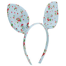 Buy John Lewis Girl Floral Bunny Ears Alice Band, Pastel Online at johnlewis.com