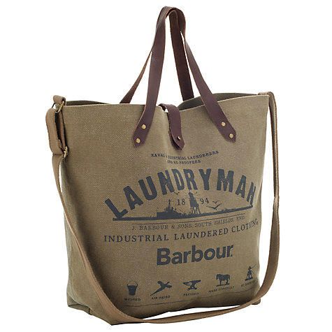 Buy Barbour Laundryman Canvas Tote Bag Online at johnlewis.com