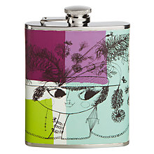 Buy John Lewis Loewy Print Hip Flask, Multi Online at johnlewis.com