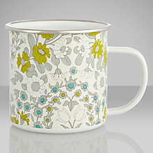 Buy John Lewis Daisy Print Enamel Mug, Multi Online at johnlewis.com