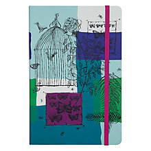 Buy John Lewis Loewy Print Birdcage A5 Notebook, Multi Online at johnlewis.com