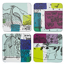 Buy John Lewis Loewy Print Coasters, Multi Online at johnlewis.com