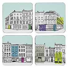 Buy John Lewis Street Scene Print Coasters, Multi Online at johnlewis.com