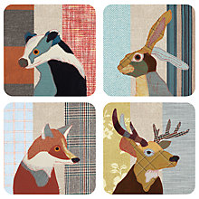 Buy Magpie Beasties Coasters, Set of 4 Online at johnlewis.com