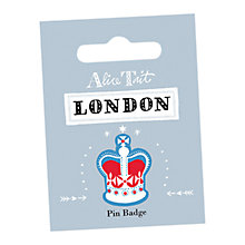 Buy Alice Tait Crown Pin Badge Online at johnlewis.com