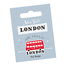 Buy Alice Tait Bus Pin Badge Online at johnlewis.com