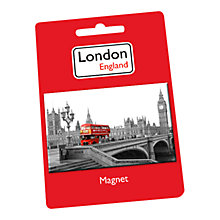 Buy Bus Print Magnet, Multi Online at johnlewis.com